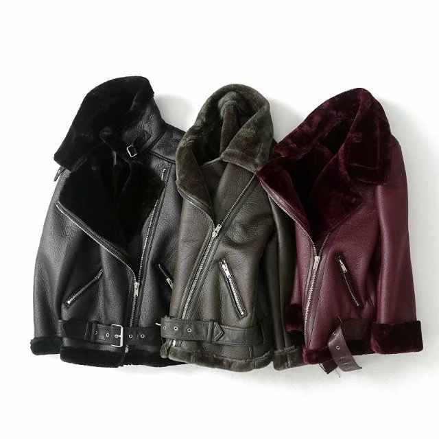 2019 di Inverno Delle Donne Del Faux Pelle di Pecora Shearling Cappotti Delle Donne di Moto D'epoca Giacca Addensare Caldo di Pelliccia Artificiale Nero Cappotti C578