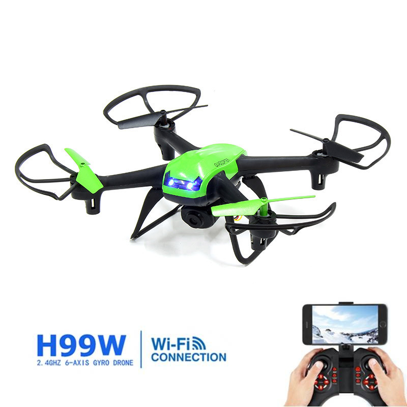 ФОТО Eachine H99W WIFI FPV With 2.0MP 720p HD Camera 2.4G 6 Axle Headless Mode RC Quadcopter RTF Mode 2 Color in Blue And Green