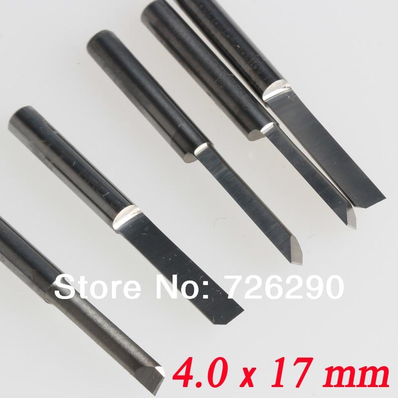 5db 4 * 17 mm-es gravírozó bitek, félig egyenes vágók nagy - Szerszámgépek és tartozékok - Fénykép 3