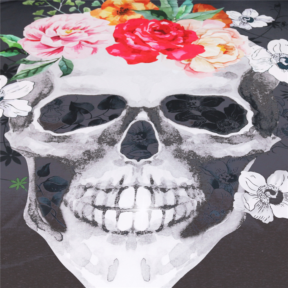 Cilected 2pcs Skull Flowers Pillow cases Nightmare Before Christmas Skull Couple Bedding Pillow Cover Halloween party 50*75cm-in Pillow Case from Home ...