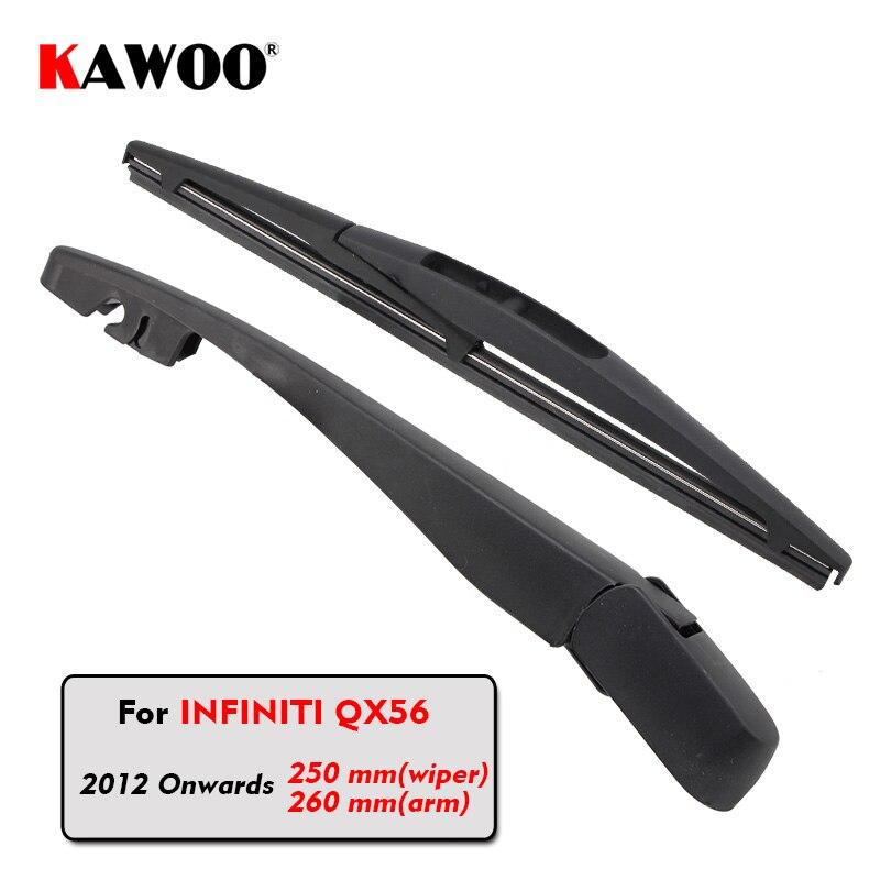 Kawoo Car Rear Wiper Blade Blades Back Window Wipers Arm