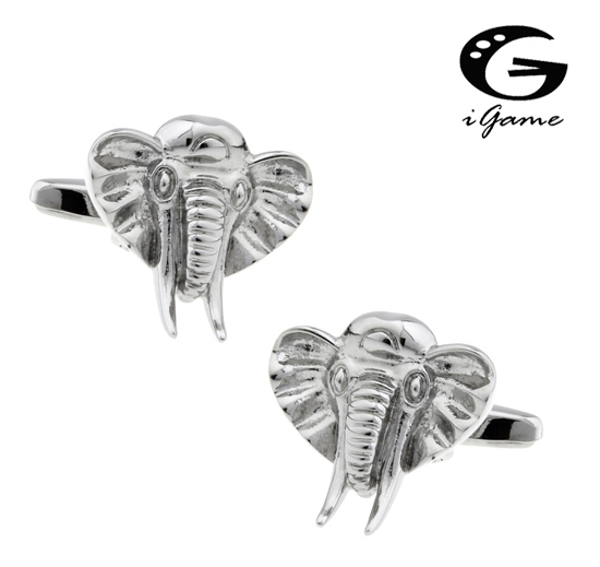 Igame Cuff Links Unique Elephant Design Brass Material