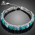 AZORA Luxurious Party Jewelry Gorgeous Stellux Austrian Crystal Bracelet for Women TS0084