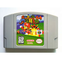 Nintendo 64 Game Super Mario 64 Video Game Cartridge Console Card English Language US Version