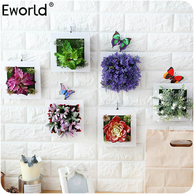 3d Artificial Plants Decoration Stereo Artificial Flowers Wall