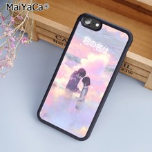 9b5b7fba9 MaiYaCa anime movie your name Black Phone Case Cover for iPhone 5 5s SE 6  6s 7 8 X samsung note 8 S5 S6 S7 edge S8 S9 Plus Shell