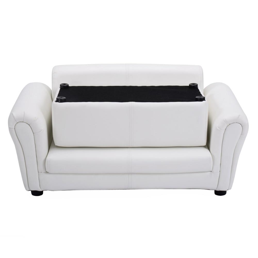 Sofas Para Ninos, Sillones Infantiles Muebles Para Ninos 83x42x21cm Con Escabel (Blanco) HW54199WH