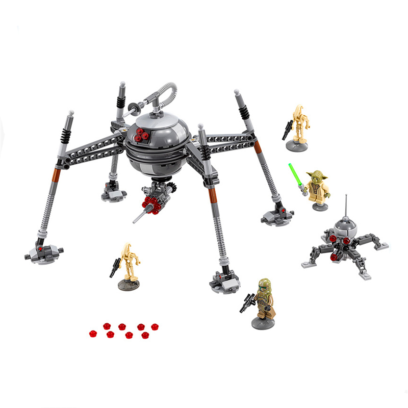 320pcs Star Wars Homing Spider Droid Master Model Building Block Toys Figure Gift For Children Compatible With LegoINGly Starwar lepin 05025 star wars 7 homing spider droid figure toys building blocks set marvel compatible with legoe