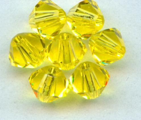 Free shipping! AAA 5301 Citrine color 3mm 4mm 5mm 6mm 8mm  Crystal Glass Bicone Beads. free shipping aaa 5301 white opal color 3mm 4mm 5mm 6mm 8mm crystal glass bicone beads