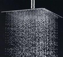 Бесплатная доставка 30 см * 30 см площадь / круглый нержавеющей стали ультра-тонких душем 12 дюйм(ов) ванная комната осадки Showerhead тропическим душем