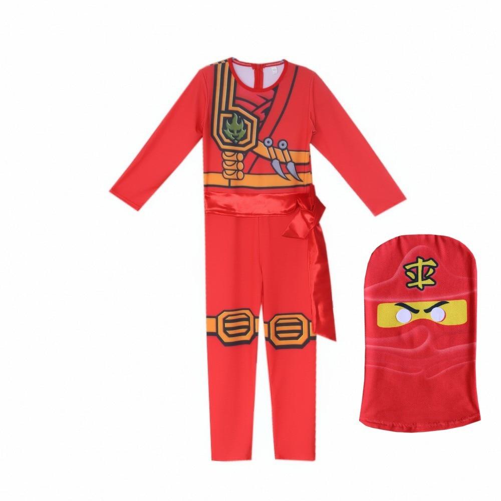 LEGO NINJAGO Advanced Latest Role Playing Costume Boys And Girls Jumpsuit Set Halloween Christmas Party Ninja Superhero Se