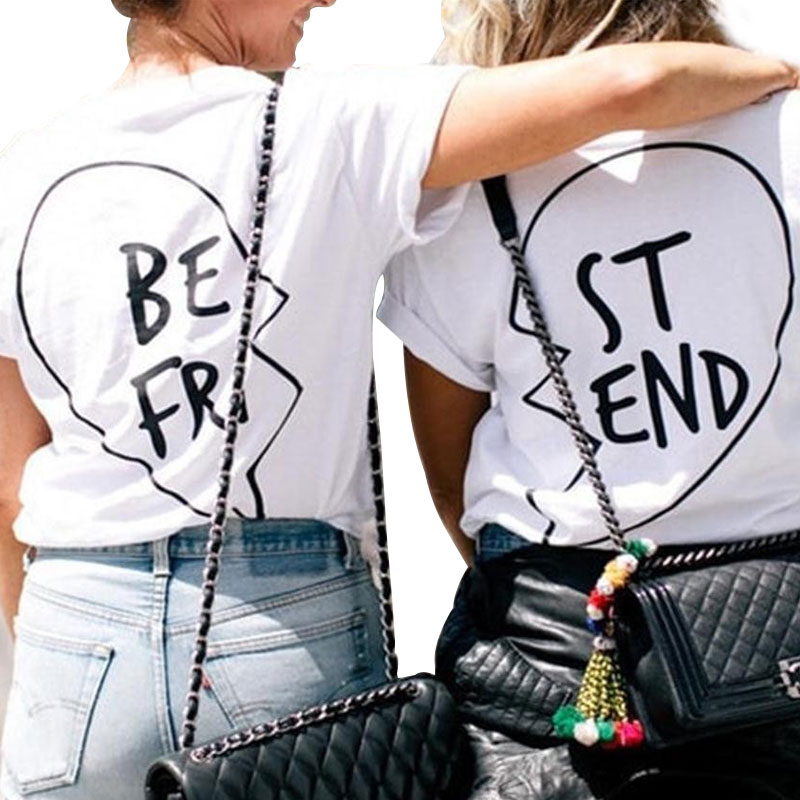 New Fashion Graphic Tees Best Friends T shirt fro Girls ...