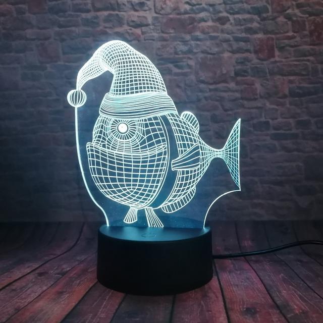 3D LED Hologram – Nočné svetlo – Lovely Fish