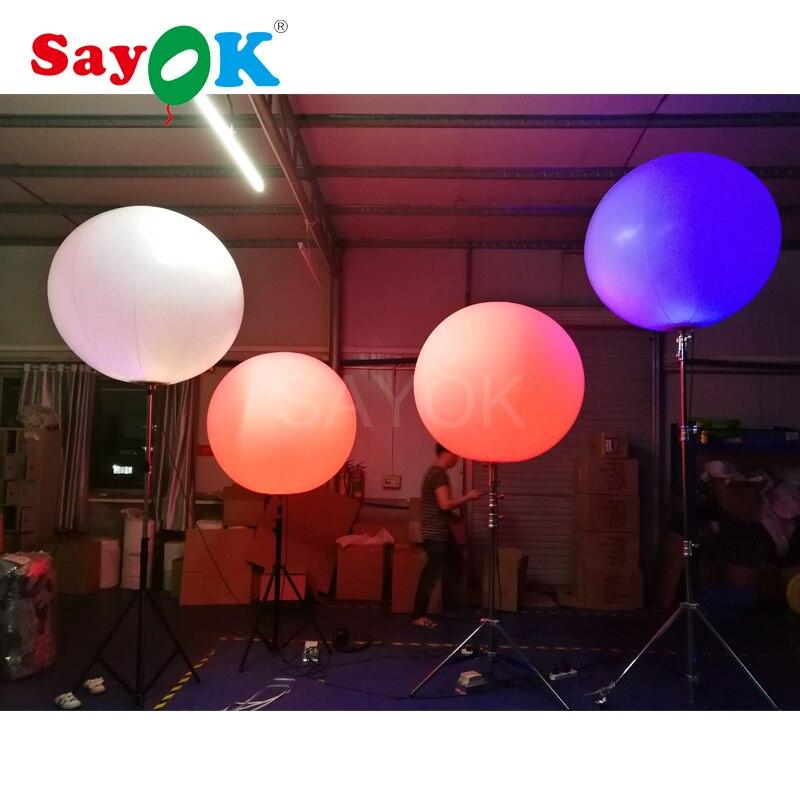 이벤트 광고에 대 한 할로겐 빛 또는 rgb 빛으로 뜨거운 판매 풍선 스탠드 삼각대 풍선-에서글로우 파티 용품부터 홈 & 가든 의  그룹 2