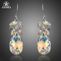 AZORA Gorgeous Cluster Gradual Change Stellux Austrian Crystal Water Drop Earrings For Women TE0256