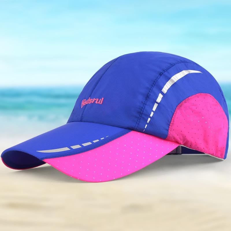 Gorras de béisbol del sombrero del sunbonnet amantes de la gorra sunhat  visera malla transpirable sombreros de verano moda patchwork wicking hueso a1f91229b8d