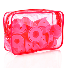 Pink Soft Silicone Hair Curlers 30 pcs Set