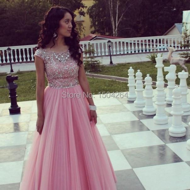 Aliexpress.com : Buy Beautiful Pink Chiffon Prom Dress A Line ...