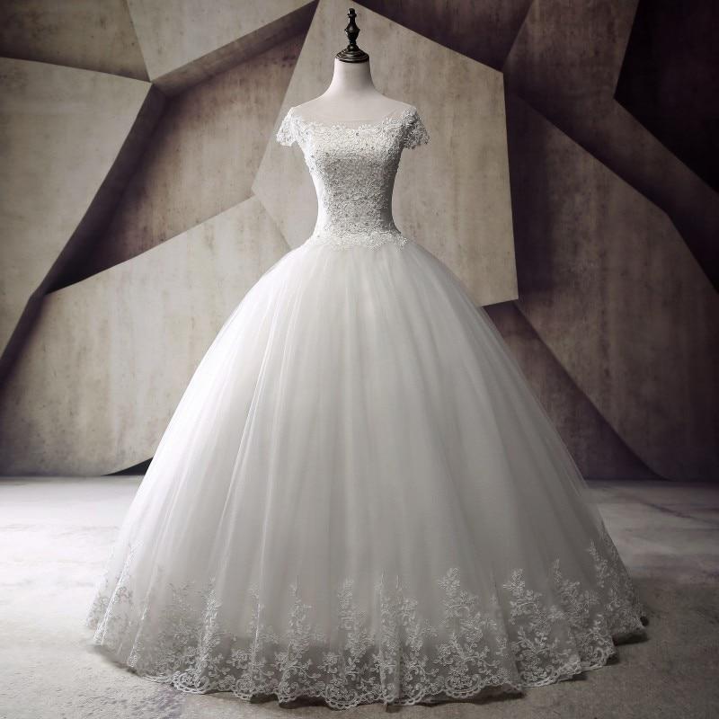 Plus Size Ball Gown Wedding Dresses 2019 Vestido de noiva ... Lace Romantic Vintage Wedding Dresses With Sleeves