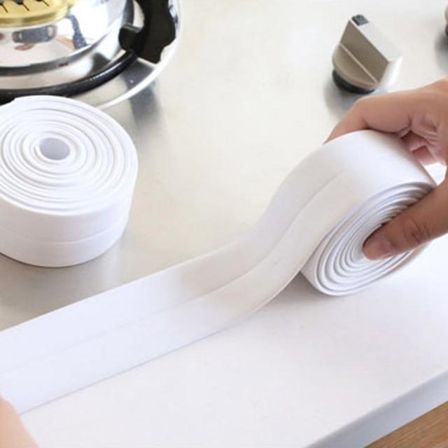 3 2mx3 8cm Mildew Resistant Kitchen Sealing Strip Waterproof Bathroom Wall Stickers Self Adhesive Bath