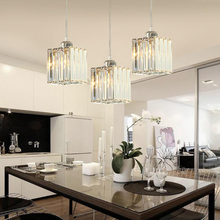 hot deal buy contemporary crystal led pendant lights european style glass hanging lamps restaurant bar dinning room parlor led pendant lights