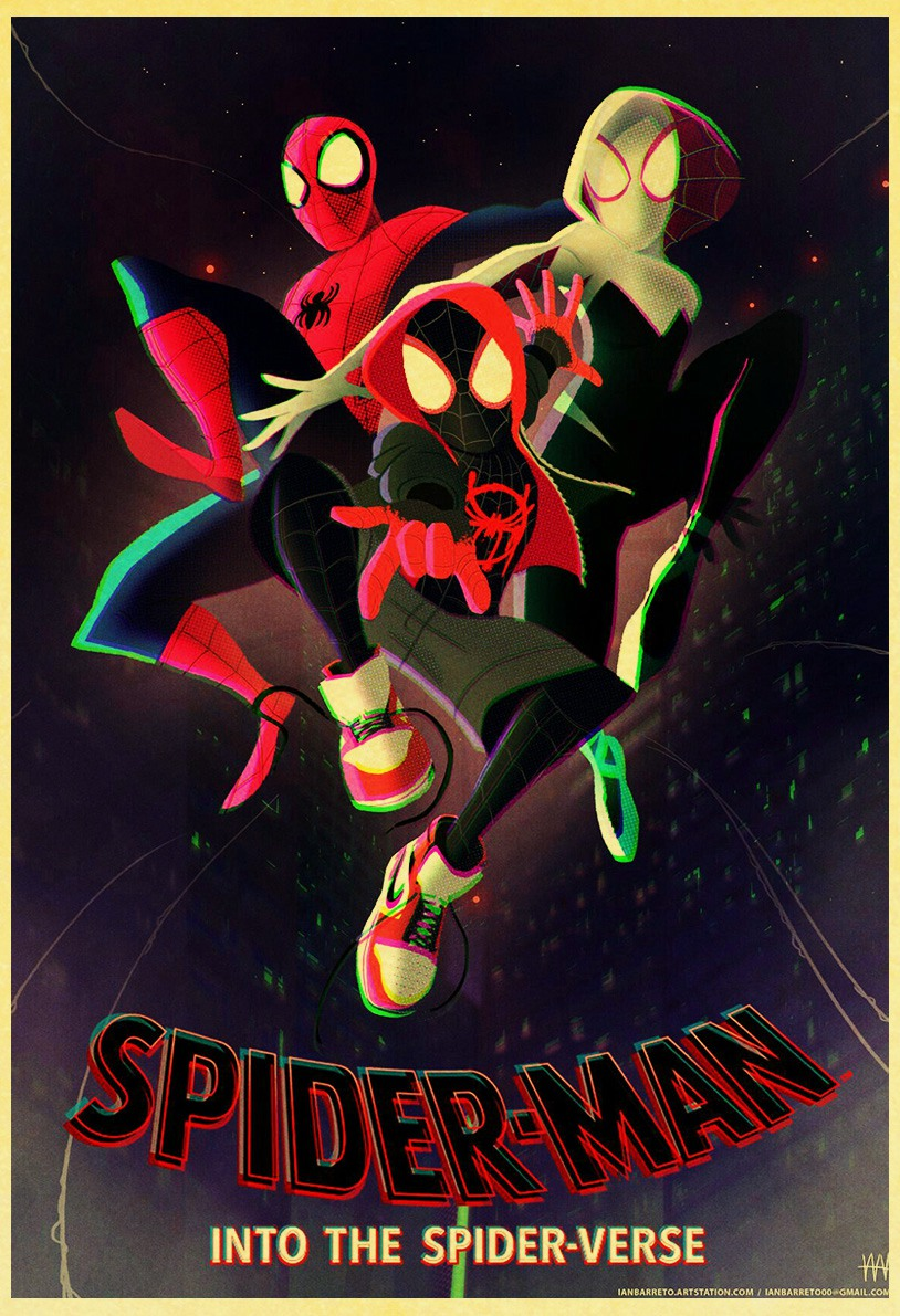 Spider Man Into the Spider Verse Movie Poster High Quality Prints