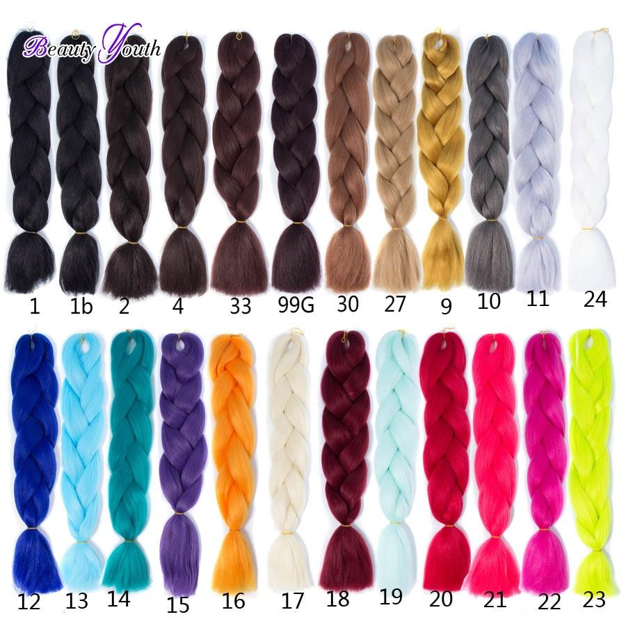 24 1pc100g 7 Colors Ombre Expression Kanekalon Jumbo