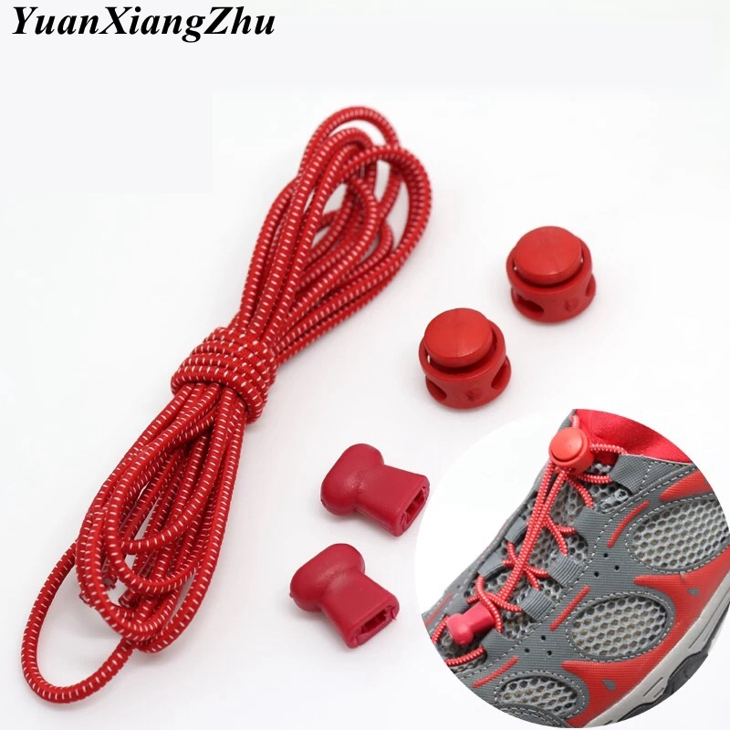 1Pair Stretching Lock Lace 23 Colors Sneaker ShoeLaces Elastic Shoe Laces Quick Locking Shoestrings Running/Jogging/Triathlone