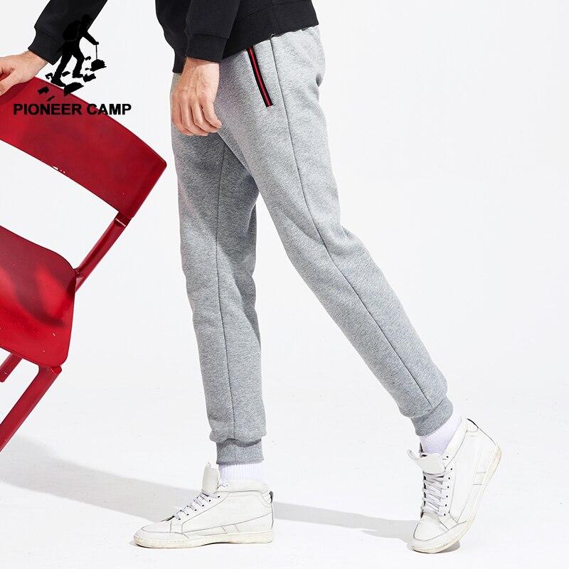 Pioneer Camp Nouveau épaissir chaud pantalons de survêtement hommes marque-vêtements casual hiver polaire pantalon décontracté hommes qualité 100% coton AWK702321