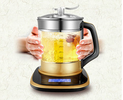 Electric kettle Full automatic multi-function purpose glass tea pot electric  boiling black teapot Overheat Protection