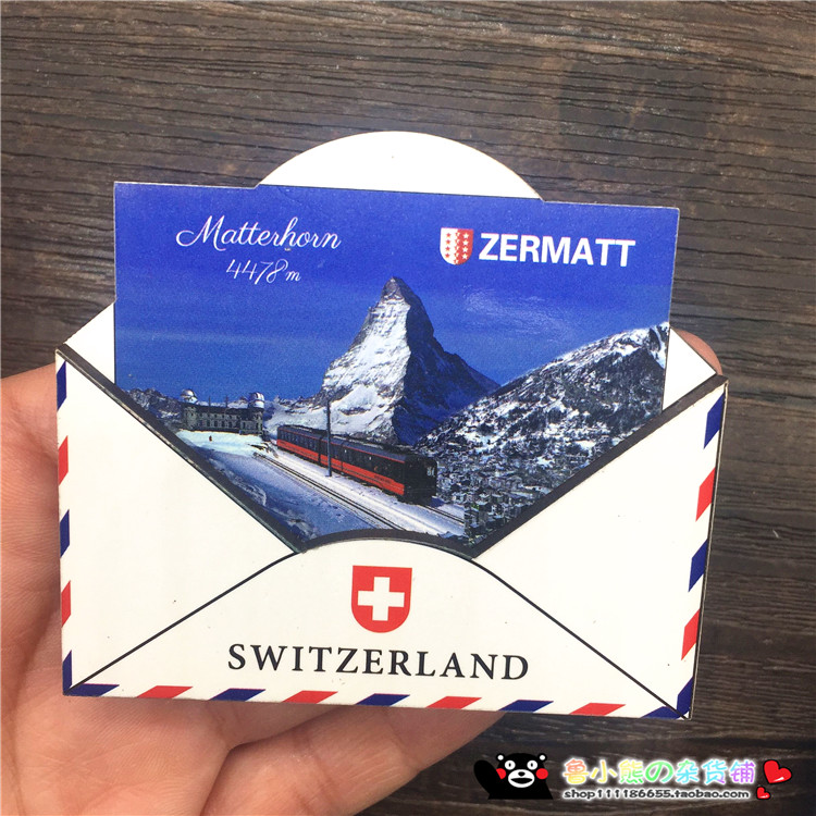 New Design Wooden Envelope Shaped Landscape Of Us An Singapore Australia Switzerland Uk Fridge Magnets 7 6cm Travel Souvenirs