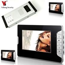 YobangSecurity 3 Units Apartment Intercom Wired 7″ Video Door Phone Video Door Entry System Intercom Doorbell Home Security Kit