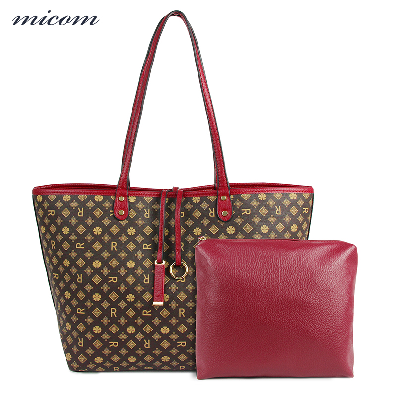 MiCOM Fashion Purses And Handbags Leather Shoulder Bag Female Casual Tote Handbags For Ladies Hand Bags Sets Louis Bag for Women flower pattern top handle bags for girls hobos small women leather tote bag women bag female handbags black purses and handbags