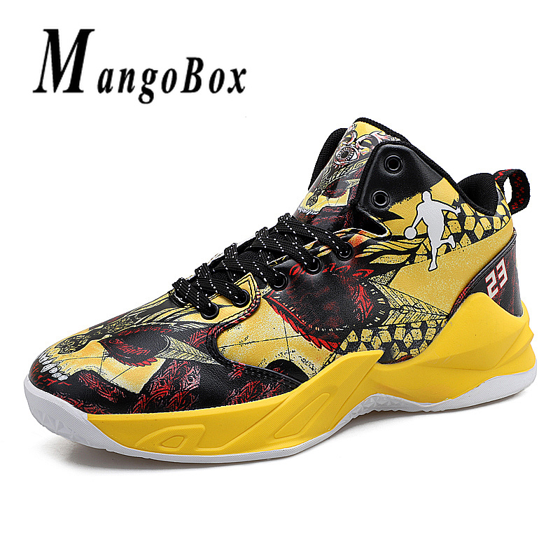 Boy Outdoor Shoes Red Basketball Sneakers Male Pu Leather Sneakers Men High Top Brand Gym Shoes Designer Basketball Shoes Sport 3