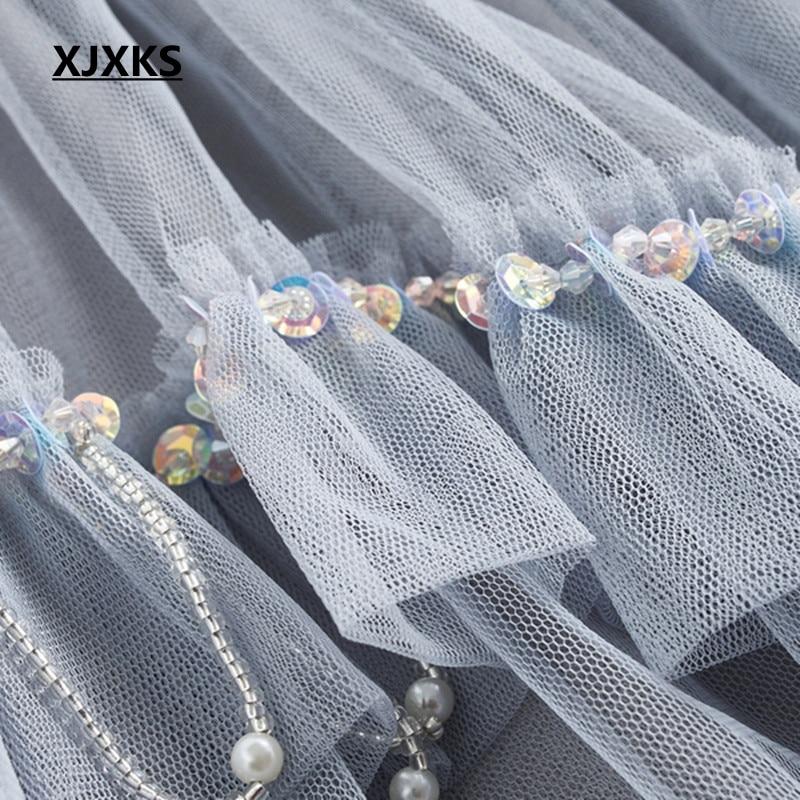 Harajuku Falda Mujer Xjxks Irregular Coreana negro Cordón Acanalada Calidad Beige Elasticidad azul Alta Diseño Marca De Buena wOTw0