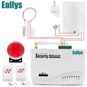 Image 1 - Gratis verzending GSM Alarmsysteem Voor Home security Systeem met Bedrade PIR/Deur sensor Enkele Antenne inbraakalarm