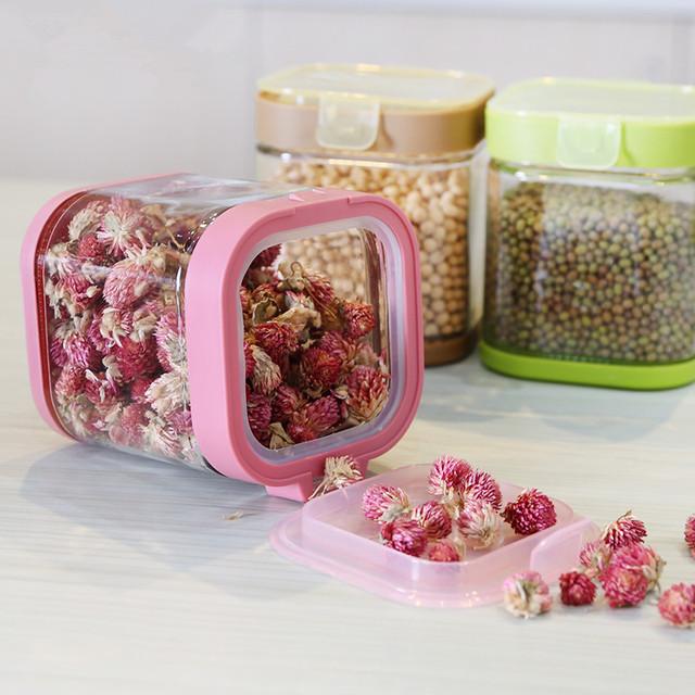 New Kitchen Portable Dry Dried Food Cereal Flour Storage Snacks