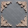 4 PÇS/LOTE 20x8x1 cm Gabinete Móveis de Madeira Decalque Acessórios Para Móveis De Madeira Europeia Bat Flor Guarnição