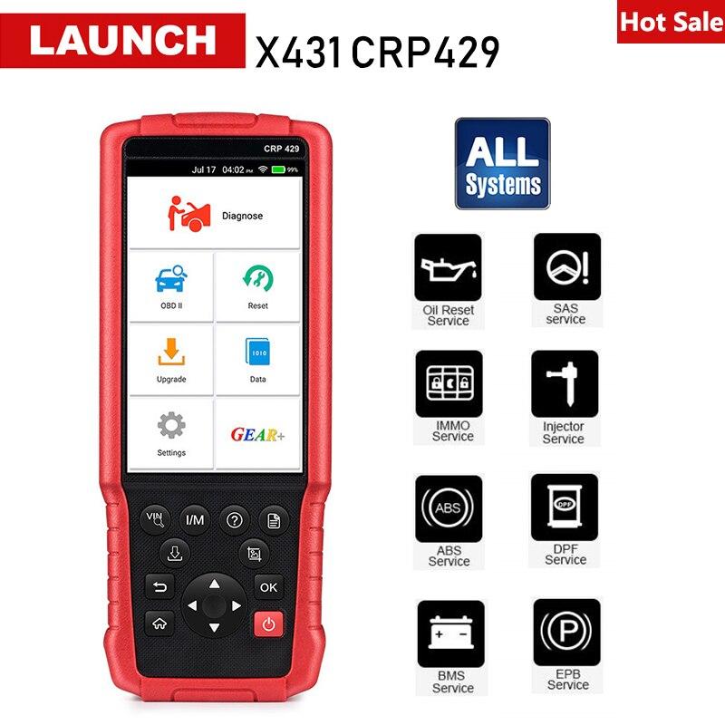 Lançamento X431 CRP429 OBD2 Completo Do Sistema Leitor de Código de Auto OBDII Ferramenta de Diagnóstico Do Carro Scanner Automotivo PK CRP429C Creader CRP123