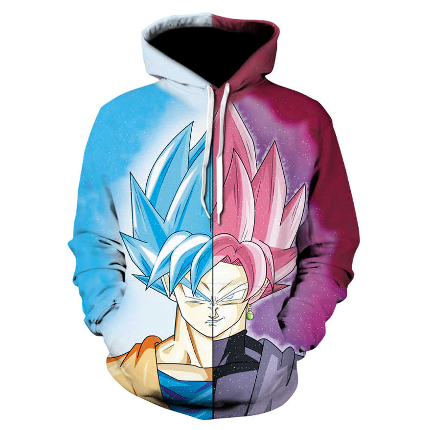 Новый Супер Saiyan синие волосы Гоку Борьба толстовки с капюшоном 3D толстовки пуловеры Для мужчин Для женщин верхняя одежда с длинными рукавами новый балахон