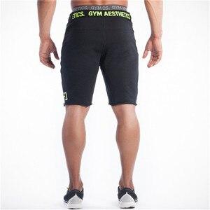 Image 3 - Men Shorts Mens Slim fit Fitness Bodybuilding Gyms Jogger Brand durable Sweatpants Fitness Workout fashion Cotton Short Pants