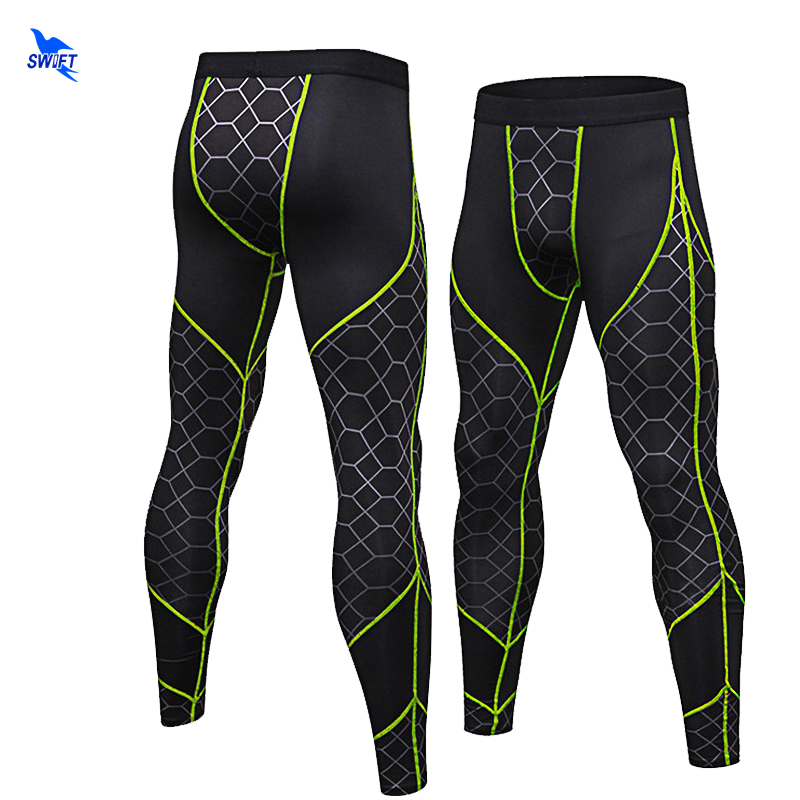 Men Running Tights Pro Compression Yoga Pants GYM Exercise Fitness Leggings Workout Basketball Training Men's Sports Clothing цена