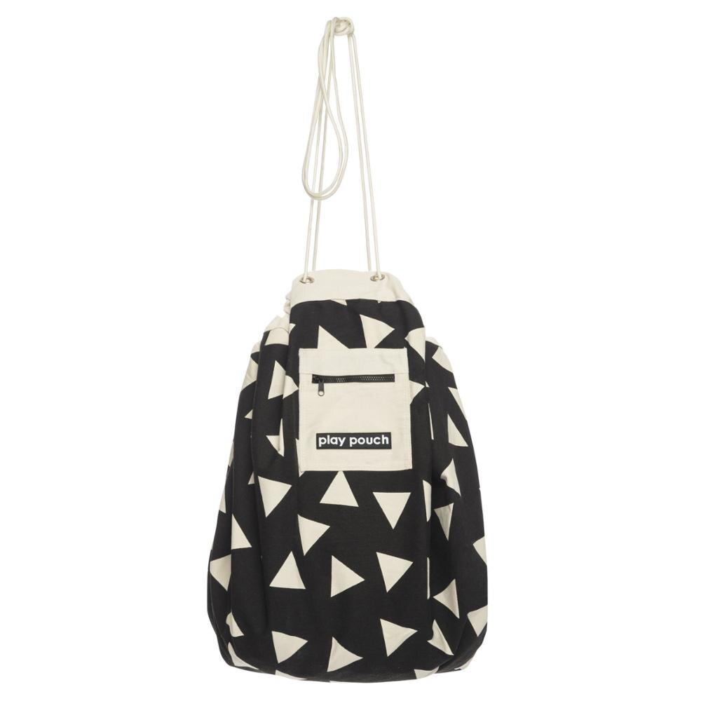 5 стилей INS модный сотовый треугольник плюс точка Бэтмен большая сумка для хранения игрушек с карманом на молнии детский коврик для игры с мешочком - Цвет: triangle
