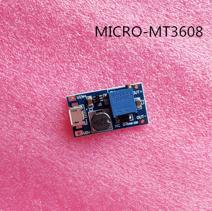 100pcs DC DC Adjustable Boost Module 2A Boost Plate Step Up Module with MICRO USB 2V