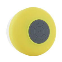 CES-Wireless Hand-free Bluetooth Waterproof Shower Speaker/Microphone Yellow