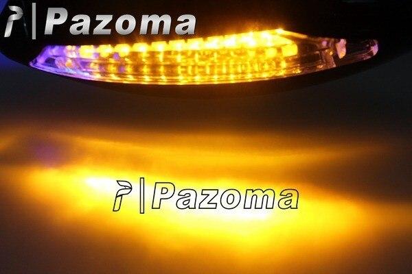 PAZOMA передний и задний светодиодный поворотники интегрированный индикатор Заднего вида гоночные зеркала черный