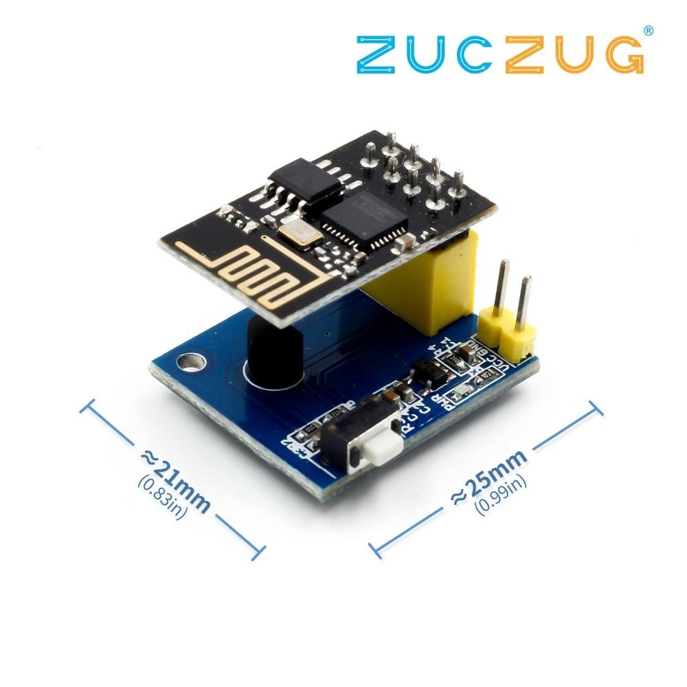 ESP8266 ESP-01 ESP01 DS18B20 Temperature Humidity Sensor Module Esp8266  Wifi Wireless NodeMCU Adapter Board For Arduino IOT