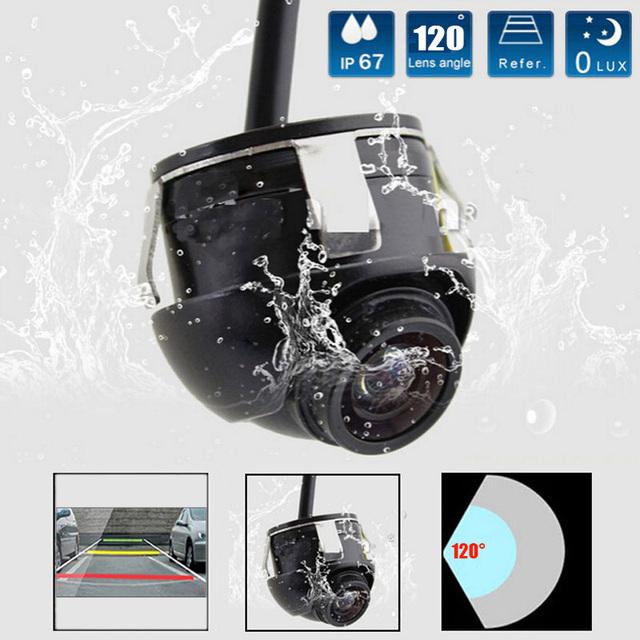 HD 360 Graus Câmera de Visão Traseira Do Carro Visão Noturna Vista Frontal Vista Lateral Reverter Retrovisor de Backup Câmera de Estacionamento Automático