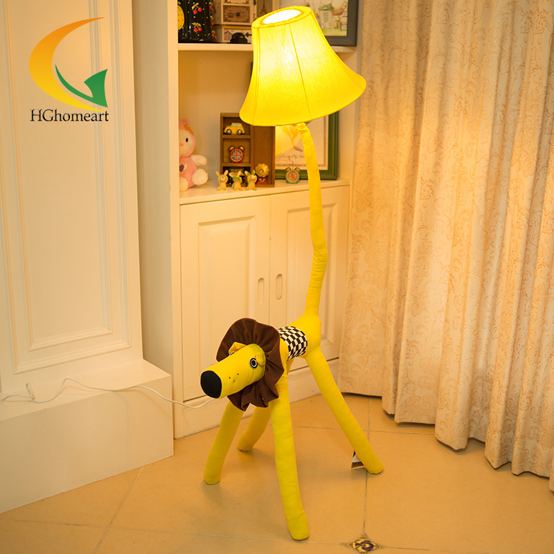 Cloth creative cartoon long nose dog floor lamps living room lamp for children's room 1 LED m sparkling td303 creative cartoon 3d led lamp
