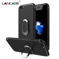 LANCASE For iPhone 6 Case Car magnetic Stand Phone Holder TPU Case For iPhone 6 6S Plus & For iPhone 6S Finger Ring 360 Rotation